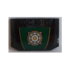 Curved Wedge Plate 4 x 6 x 2/3 with Gold and Silver Ring Ornament Sticker (52031) - Wedge & Wing - Lego - Big Orbit Cards