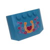 Curved Wedge Plate 4 x 6 x 2/3 with Horseshoe Vet Logo Sticker (52031) - Wedge & Wing - Lego - Big Orbit Cards