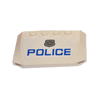 Curved Wedge Plate 4 x 6 x 2/3 with 'POLICE' and Silver Badge Sticker (52031) - Wedge & Wing - Lego - Big Orbit Cards