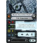 Black Squadron Pilot - TIE Fighter (1st Edition) - Pilot Cards - X-Wing Miniatures Game - Big Orbit Cards