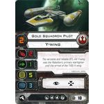 Gold Squadron Pilot - Y-Wing (1st Edition) - Pilot Cards - X-Wing Miniatures Game - Big Orbit Cards