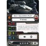 Gray Squadron Pilot - Y-Wing (1st Edition) - Pilot Cards - X-Wing Miniatures Game - Big Orbit Cards
