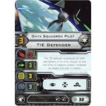 Onyx Squadron Pilot - TIE Defender (1st Edition) - Pilot Cards - X-Wing Miniatures Game - Big Orbit Cards
