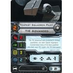 Tempest Squadron Pilot - TIE Advanced (1st Edition) - Pilot Cards - X-Wing Miniatures Game - Big Orbit Cards