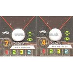 Wes Janson & Red Squadron Pilot - Small Ship Token (1st Edition) - Ship Tokens - X-Wing Miniatures Game - Big Orbit Cards