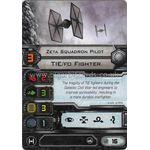 Zeta Squadron Pilot - TIE/fo Fighter (1st Edition) - Pilot Cards - X-Wing Miniatures Game - Big Orbit Cards