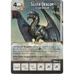 Silver Dragon - Lesser Dragon - Tomb of Annihilation - Dungeons & Dragons Dice Masters - Big Orbit Cards