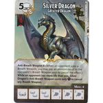 Silver Dragon - Greater Dragon - Tomb of Annihilation - Dungeons & Dragons Dice Masters - Big Orbit Cards