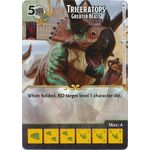 Triceratops - Greater Beast - Tomb of Annihilation - Dungeons & Dragons Dice Masters - Big Orbit Cards