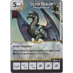 Silver Dragon - Paragon Dragon (Foil) - Tomb of Annihilation - Dungeons & Dragons Dice Masters - Big Orbit Cards