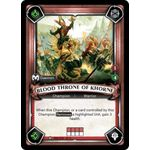 Blood Throne of Khorne (Unclaimed) - Warhammer Age of Sigmar: Champions - Big Orbit Cards