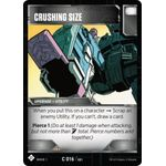 Crushing Size - Wave 1 - Transformers TCG - Big Orbit Cards