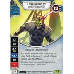 Savage Opress - Recless Warrior - Across the Galaxy - Star Wars Destiny - Big Orbit Cards