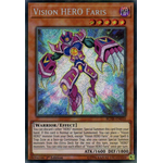 Vision HERO Faris - Secret Rare (1st Edition) - Battles of Legend Hero's Revenge - Yu-Gi-Oh! - Big Orbit Cards