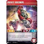 Private Sideswipe - Infantry Soldier - Wave 3 - Transformers TCG - Big Orbit Cards