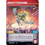 Private Pteraxadon - Air Command Artillery // Binary Edgewing Scythe - Wave 3 - Transformers TCG - Big Orbit Cards
