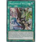 Dragonmaid Welcome - Secret Rare (1st Edition) - Mystic Fighters - Yu-Gi-Oh! - Big Orbit Cards