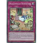 Dragonmaid Downtime - Super Rare (1st Edition) - Mystic Fighters - Yu-Gi-Oh! - Big Orbit Cards