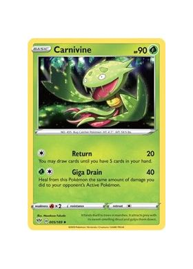 Carnivine (Reverse Holo) - Darkness Ablaze - Pokemon - Big Orbit Cards