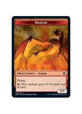 Dragon / Soldier Double-sided Token