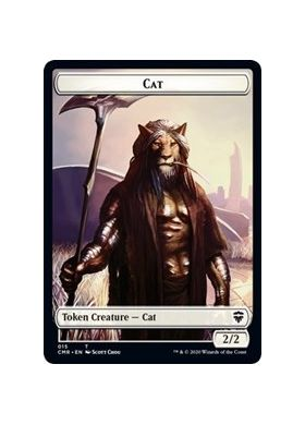 Cat / Soldier Double-sided Token