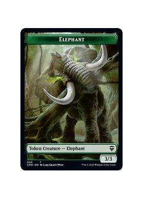 Elephant / Soldier Double-sided Token