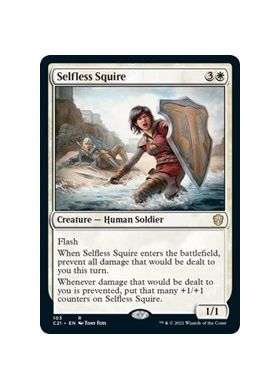 Selfless Squire - Commander 2021 - Magic the Gathering - Big Orbit Cards