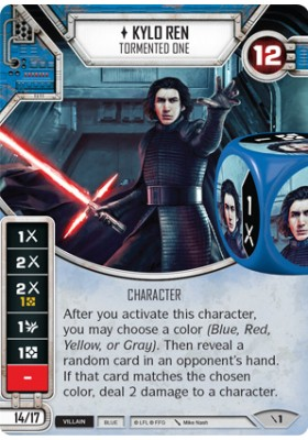 Kylo Ren - Tormented One (Unique) - Two-Player Game - Star Wars Destiny - Big Orbit Cards