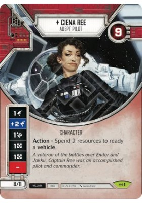 Ciena Ree - Adept Pilot (Unique) - Empire at War - Star Wars Destiny - Big Orbit Cards