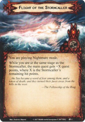 Flight of the Stormcaller - Flight of the Stormcaller - The Lord of the Rings The Card Game - Big Orbit Cards