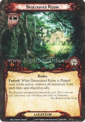 Desecrated Ruins - Temple of the Deceived - The Lord of the Rings The Card Game - Big Orbit Cards