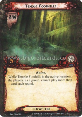 Temple Foothills - Temple of the Deceived - The Lord of the Rings The Card Game - Big Orbit Cards