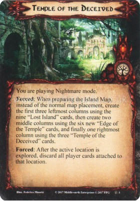 Temple of the Deceived - Temple of the Deceived - The Lord of the Rings The Card Game - Big Orbit Cards