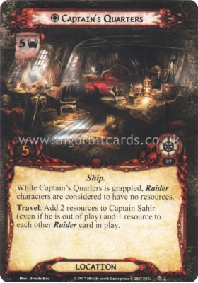 Captain's Quarters - The Thing in the Depths - The Lord of the Rings The Card Game - Big Orbit Cards