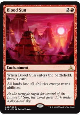 Blood Sun (Foil) - Rivals of Ixalan - Magic the Gathering - Big Orbit Cards
