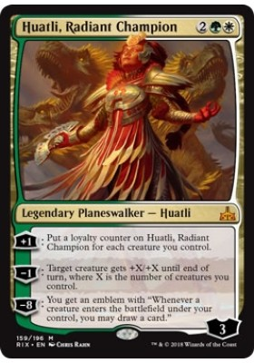 Huatli, Radiant Champion (Prerelease) - Rivals of Ixalan - Magic the Gathering - Big Orbit Cards