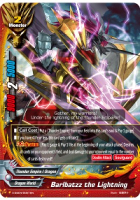 Barlbatzz the Lightning (BR) - X-SS04 X Duel Chest - Future Card Buddyfight - Big Orbit Cards