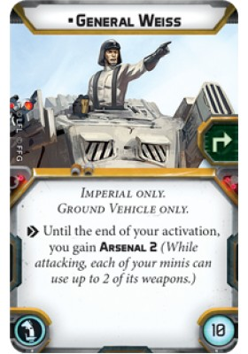 General Weiss - Upgrade Card - Upgrade Cards - Star Wars Legion - Big Orbit Cards