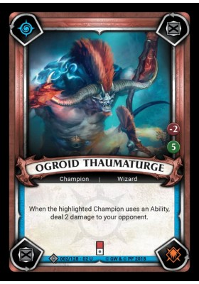 Ogroid Thaumaturge (Unclaimed) (Foil) - Onslaught - Warhammer Age of Sigmar: Champions - Big Orbit Cards