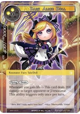 Dark Alice Doll - The Strangers of New Valhalla - Force of Will - Big Orbit Cards