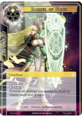 Barrier of Faith - The Strangers of New Valhalla - Force of Will - Big Orbit Cards