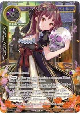 Athenia, Sealed God of the Ruins (Secret) - The Strangers of New Valhalla - Force of Will - Big Orbit Cards