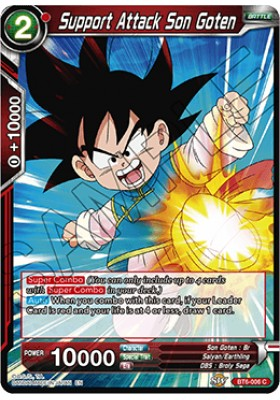 Support Attack Son Goten - Destroyer Kings - Dragon Ball Super Card Game - Big Orbit Cards
