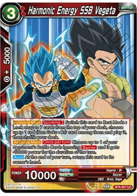 Harmonic Energy SSB Vegeta - Destroyer Kings - Dragon Ball Super Card Game - Big Orbit Cards