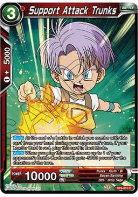 Support Attack Trunks - Destroyer Kings - Dragon Ball Super Card Game - Big Orbit Cards