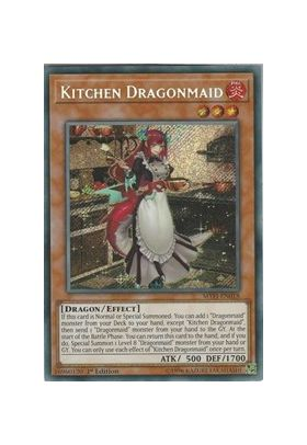 Kitchen Dragonmaid - Secret Rare (1st Edition) - Mystic Fighters - Yu-Gi-Oh! - Big Orbit Cards