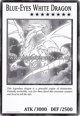 Blue-Eyes White Dragon - Oversized Card (Unlimited Edition)