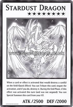 Stardust Dragon - Oversized Card (Unlimited Edition) - Duel Overload - Yu-Gi-Oh! - Big Orbit Cards