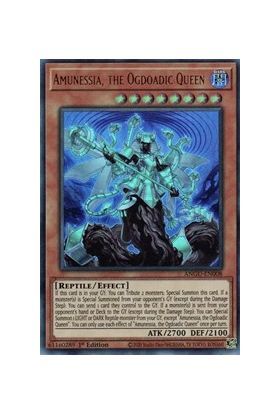 Amunessia, the Ogdoadic Queen (CR) - Collector's Rare (1st Edition) - Ancient Guardians - Yu-Gi-Oh! - Big Orbit Cards